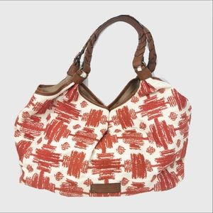 Lucky brand large graphic print canvas tote bag